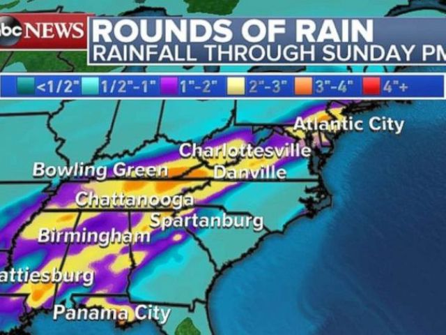 PHOTO: The Appalachians will experience rain this weekend.