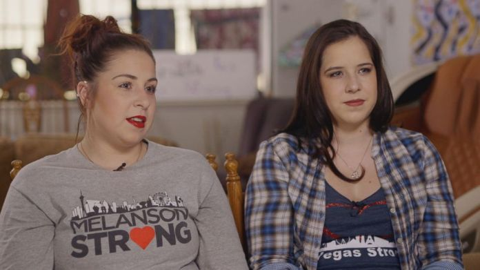 Stephanie and Paige Melanson attended the concert with their mother, Rosemarie Melanson, who was gravely wounded in the Oct. 1, 2017, Las Vegas attack.