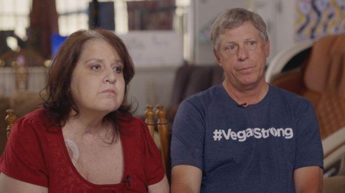 Rosemarie Melanson (left), seen here with her husband Steve Melanson, was gravely wounded in the Oct. 1, 2017, Las Vegas shooting.