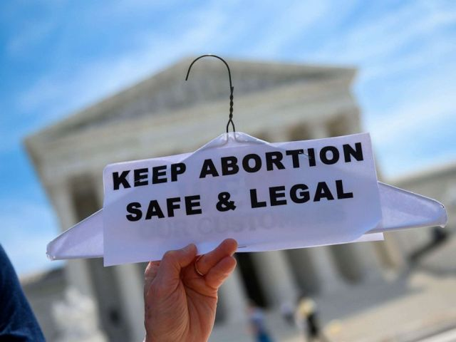 PHOTO:Abortion rights activists rally in front of the US Supreme Court in Washington, D.C., May 21, 2019. Demonstrations were planned across the US on Tuesday in defense of abortion rights, which activists see as increasingly under attack.