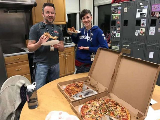 Air traffic controllers in Portland, Maine were sent pizzas from their Canadian counterparts as part of a show of solidarity amid the ongoing U.S. government shutdown.