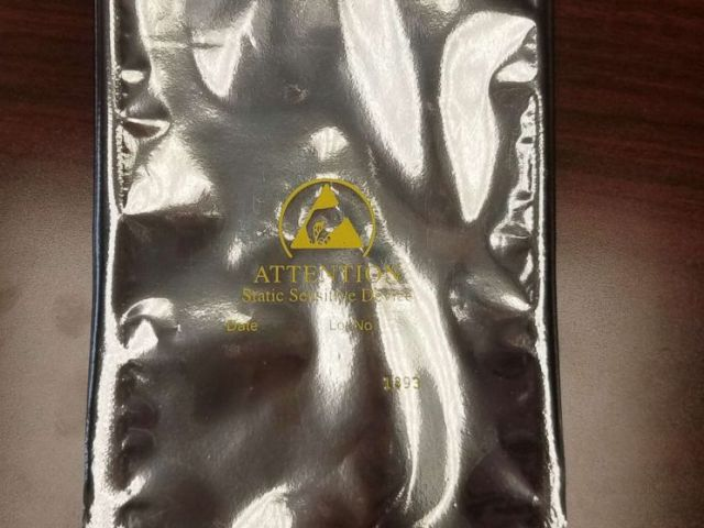 PHOTO: A static shielding bag sent by Samsung as part of a kit to a Detroit woman after she complained to the company that her mobile devices caught fire in her car, May 21, 2018.