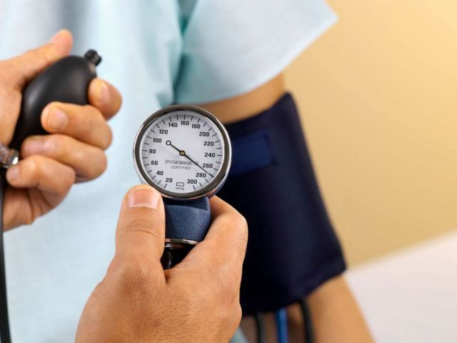PHOTO: A persons blood pressure appears to be taken in this undated stock photo.