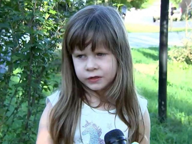 PHOTO: Christine Przybylski, 5, was playing in the front yard of her Villa Park, Ill. home when she was chased by a roaming coyote.
