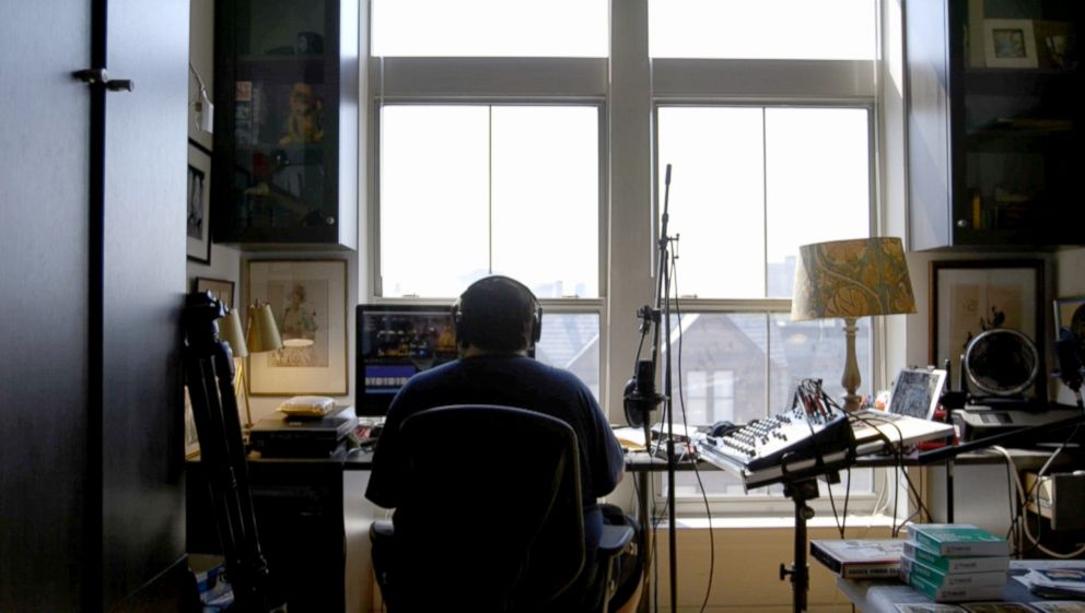 Dan Bell works from his home edit suite in Baltimore, Maryland.
