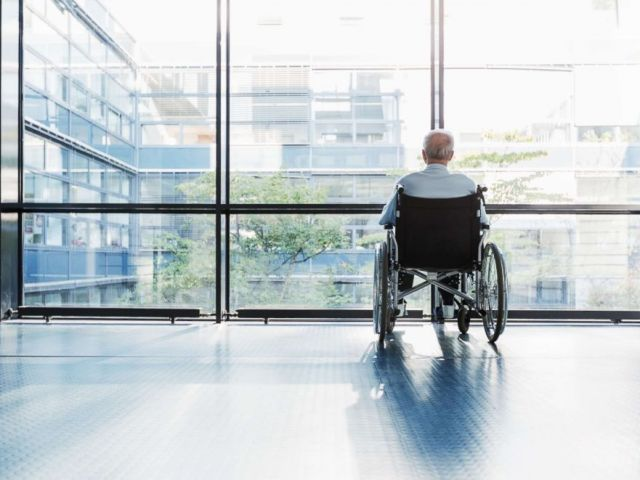 PHOTO: A senior man in a wheelchair is pictured in this undated stock photo.