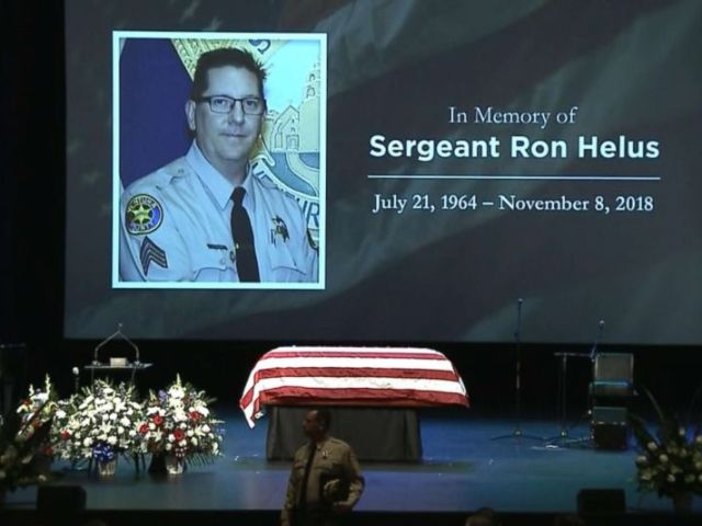 PHOTO: The funeral for Sgt. Ron Helus, from the Ventura County Sheriffs Office, Nov. 15, 2018.
