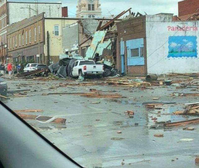 Photo Destruction From A Tornado In Marshalltown Iowa July