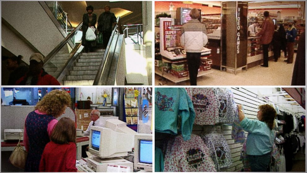 Scenes from a mall through the years.