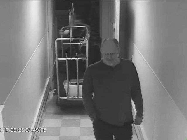 PHOTO: Newly released video shows Stephen Paddock, who shot and killed 58 people in October 2017, in the hallway of the MGM Resorts.