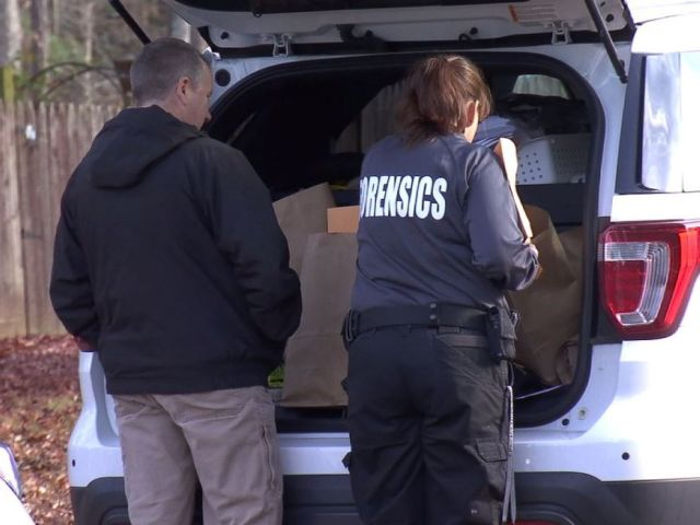 PHOTO: Authorities load evidence from the Federico home in Chesterfield, Va., into cars after the arrest of Wendy Federico and her son Joseph Federico in a murder-for-hire plot on Friday, Dec. 7, 2018.