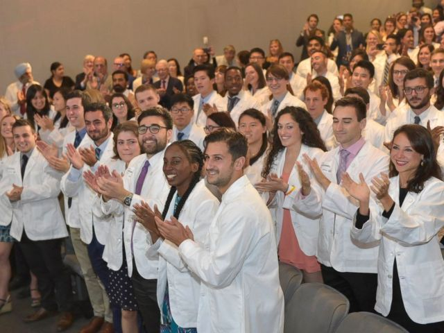 PHOTO: New York Universitys School of Medicine announces it is offering full-tuition scholarships to all current and future students in its MD degree program, regardless of need or merit, Aug. 16, 2018.