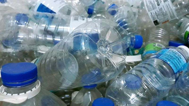PHOTO: Plastic water bottles are seen in this stock photo.