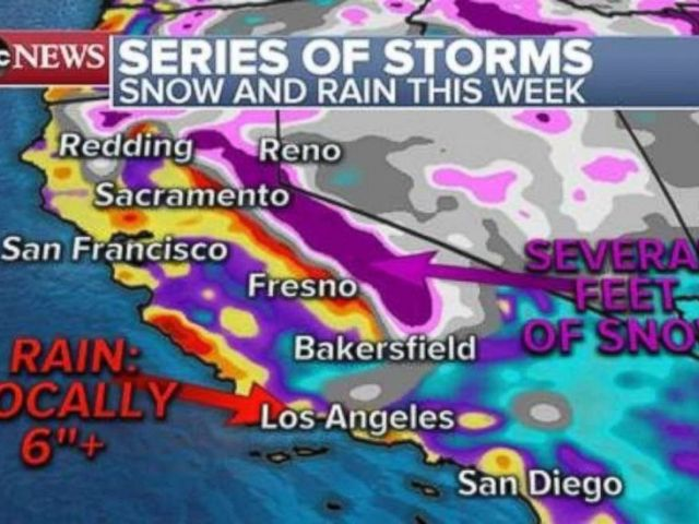 PHOTO: Heavy rain in Southern California could cause mudslides this week.