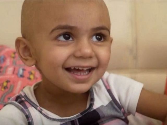 PHOTO: Zainab Mughal, 2 years old, is missing an Indian type B antigen, which means that he will need a rare donor that also lacks that antigen.