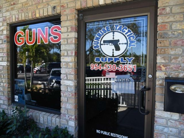 PHOTO: Outside view of Sunrise Tactical Supply store in Coral Springs, Fla. on Feb. 16, 2018 where accused school shooter Nikolas Cruz bought an AR-15.