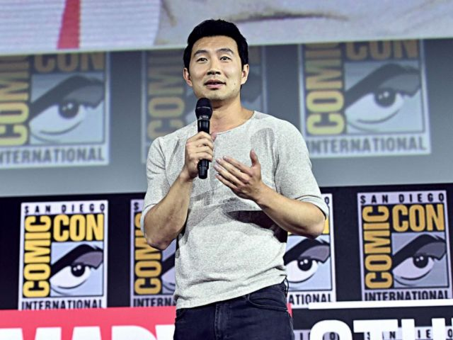PHOTO: Simu Liu of Marvel Studios Shang-Chi and the Legend of the Ten Rings at the San Diego Comic-Con International 2019 Marvel Studios Panel, July 20, 2019.