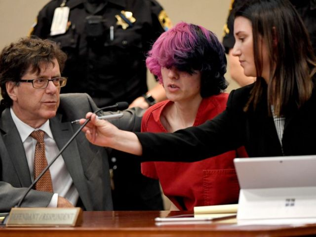 PHOTO: Devon Erickson, an accused STEM school shooter, answers the judge during his advisement at the Douglas County Courthouse in Castle Rock, Colo., May 8, 2019.