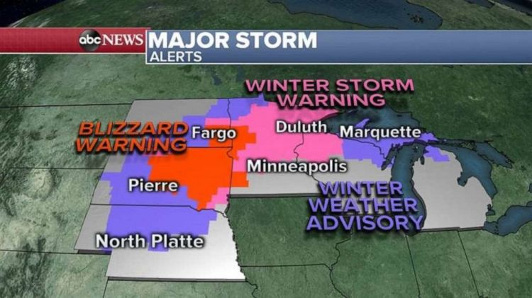 There are severe weather alerts in six states on Friday.