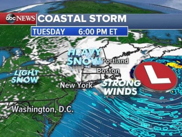 Winds on Cape Cod tonight could reach 65 mph.