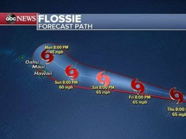 PHOTO: Flossie is expected to weaken closer to Hawaii.