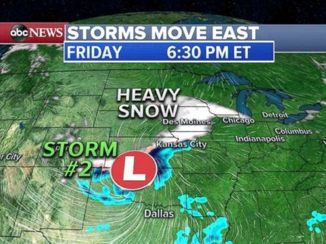 A strong storm expected to hit the Northeast is making its way from the West.