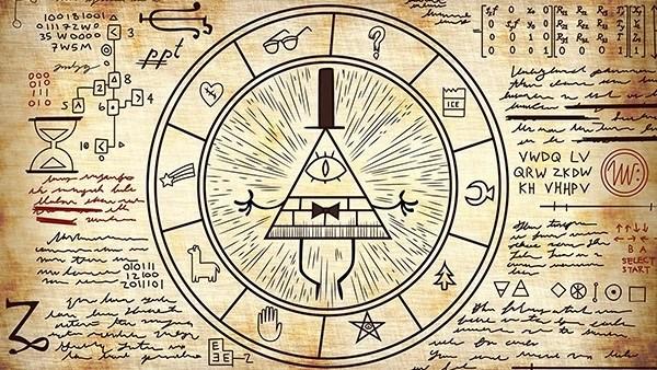 Gravity Falls Bill Cypher Circle