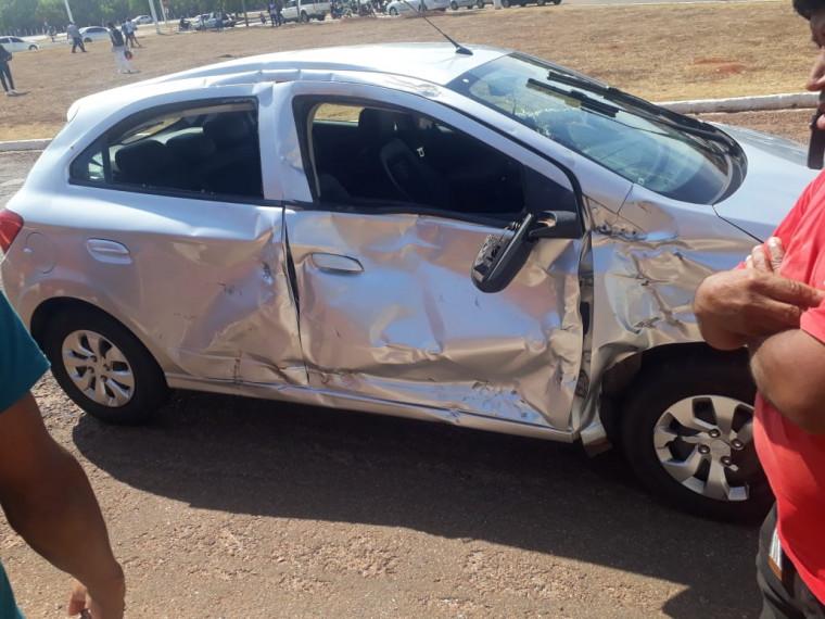Carro envolvido no acidente