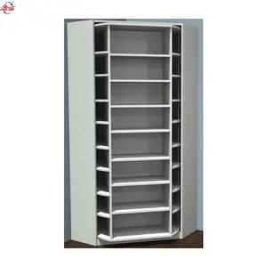 meuble a chaussures rotatif blanc a 7 niveaux permettant de gagner de l espace tour d angle armoire a souliers
