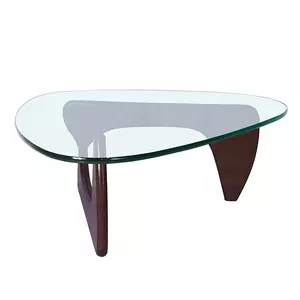 triangle glass table