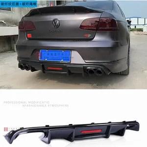 2012 2016 abs black rear bumper lip trunk spoiler rear diffuser for volkswagen passat b7