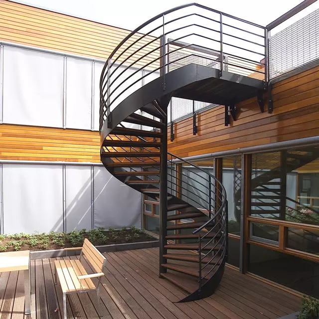 Outdoor Steel Beam Metal Spiral Staircase For Sale Buy Metal | Wooden Spiral Staircase For Sale | 3 Floor | Twist | Wrought Iron | 36 Inch Diameter | Free Standing