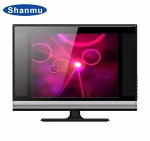 custom lower price 19 inch 4 3 ratio screen led tv with double glass and out speaker intelligent television