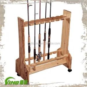 fishing rod display stand display rack fishing rods wooden fishing rod rack