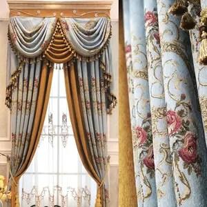 Sedia barocco in legno e tessuto color oro cm 60x52x110h. Non Corrosion Technology Baroque Curtain Alibaba Com