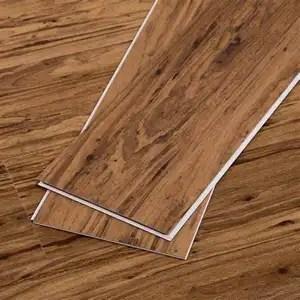 wooden looking laminated waterproof pvc vinyl plank tiles flooring stickers for sale