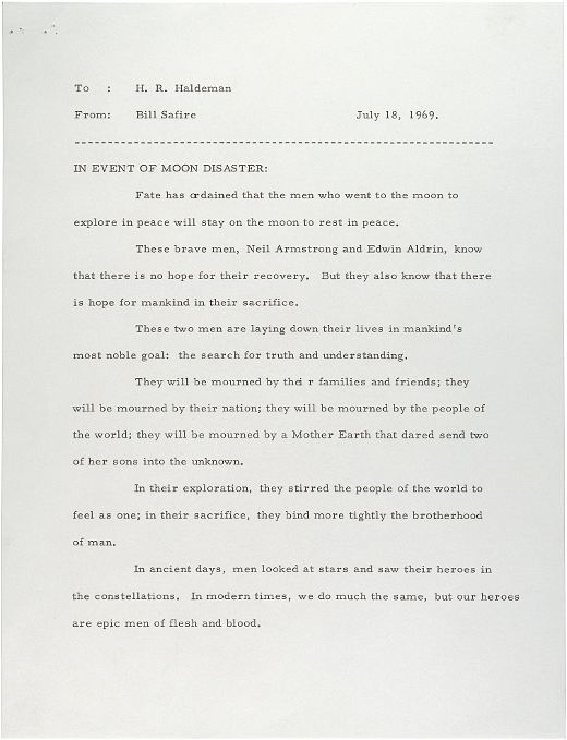 Image result for apollo 11 contingency speech