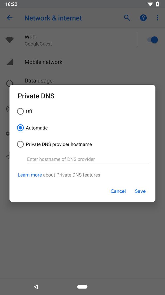 Android P navigation bar