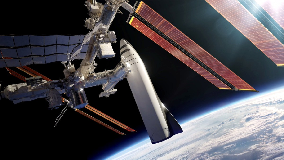 BRF acoplado à ISS, e