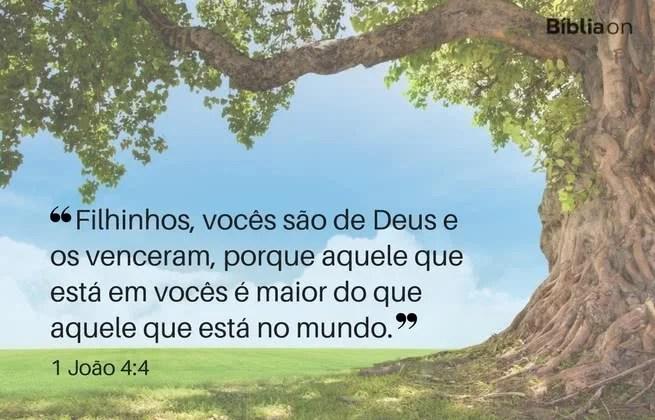 Filhinhos, vocês são de Deus e os venceram, porque aquele que está em vocês é maior do que aquele que está no mundo. 1 João 4:4