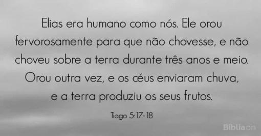 Deus ouviu a oração de Elias