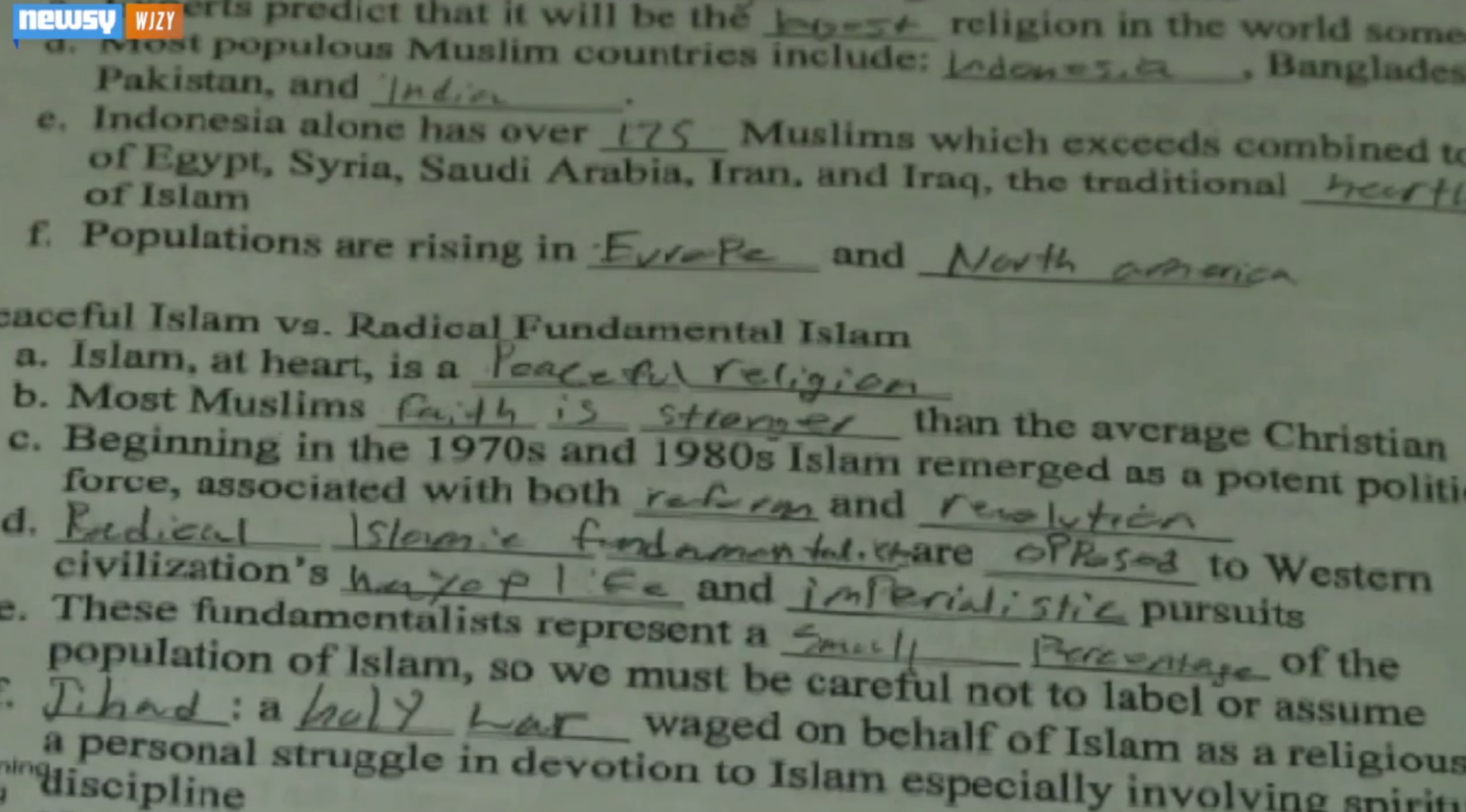 Stronger Muslim Faith Worksheet Question Angers North