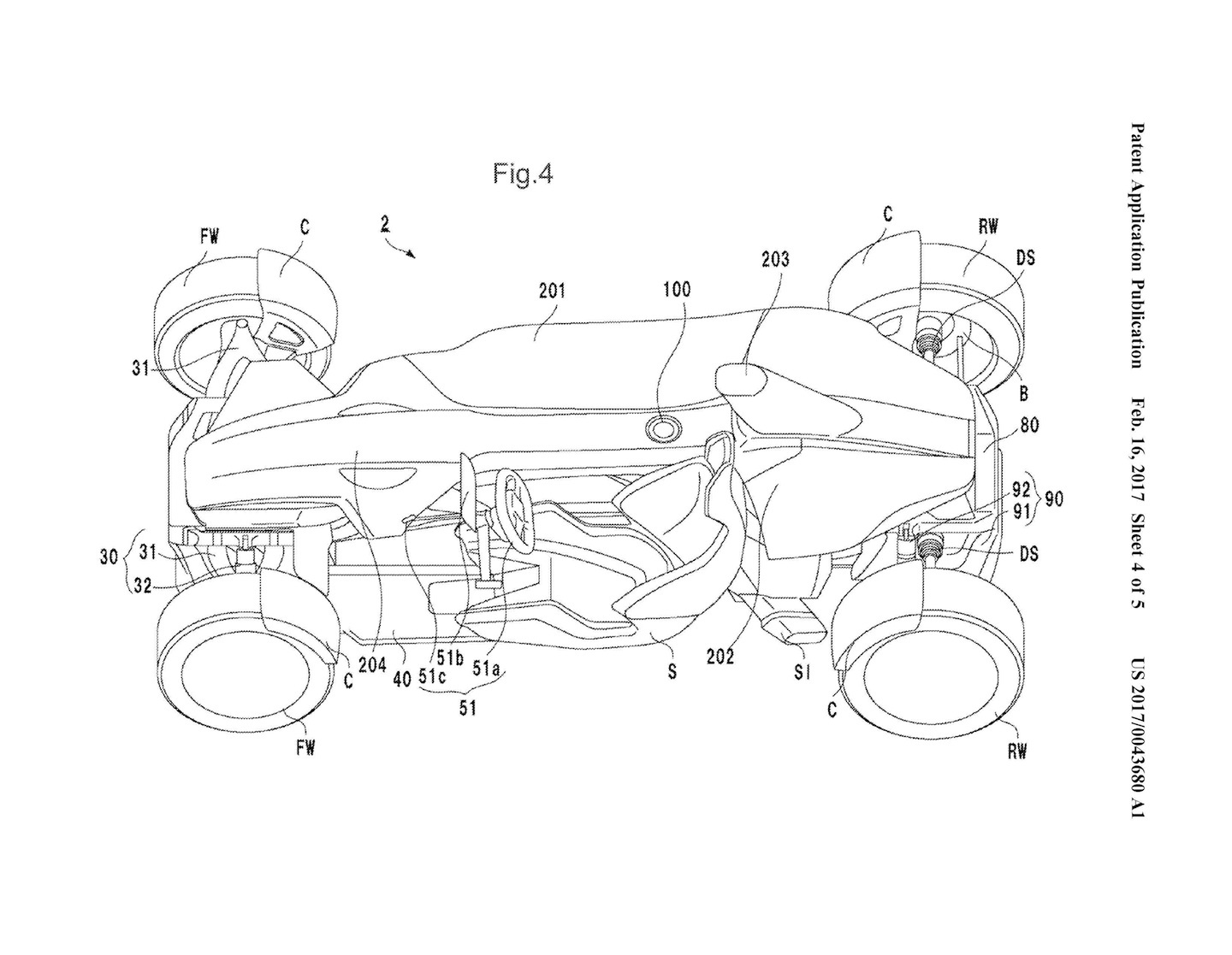 Honda Mid Engine Car Patent Drawings 0