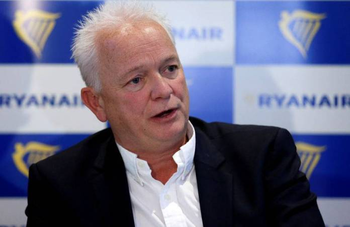 RYANAIR PROMEUT EDDIE WILSON AT THE HEAD OF THE AIR COMPANY
