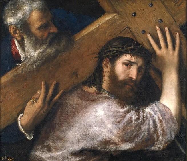 titian christ carrying the cross oil on canvas 67 x 77 cm c 1565 madrid museo nacional del prado 1 c