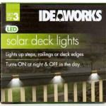 Ideaworks Set Of 3 Solar Deck Lights Brown White Catch Com Au