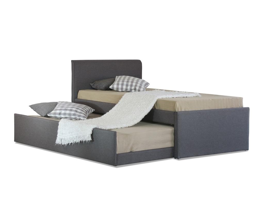 Istyle Selina King Single Trundle Storage Bed Frame Fabric Grey Catch Com Au