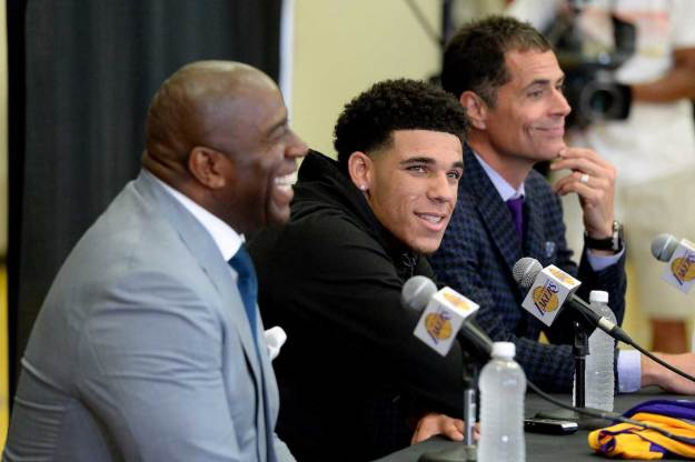 Lonzo Ball and Magic Johnson