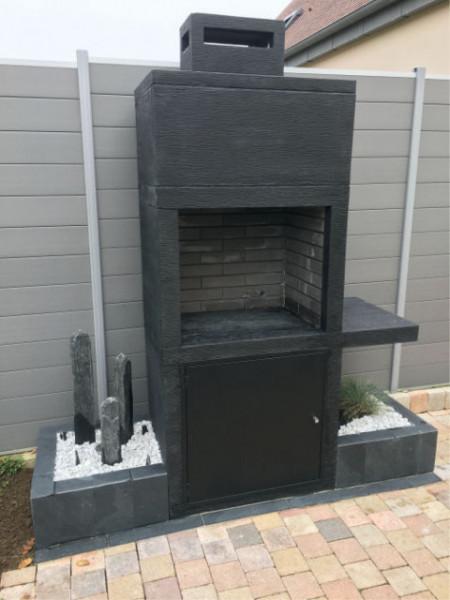 barbecue contemporain pierre av15m