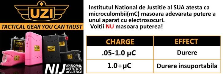 Certificare aparat cu electrosocuri 2 milioane de volti UZI